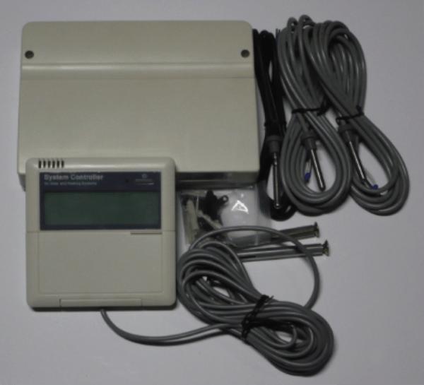 Napkollektor, szolár vezérlő + hőmérséklet érzékelő